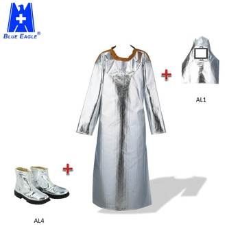 Blue Eagle Safety best heat resistant material aluminized apron with sleeves