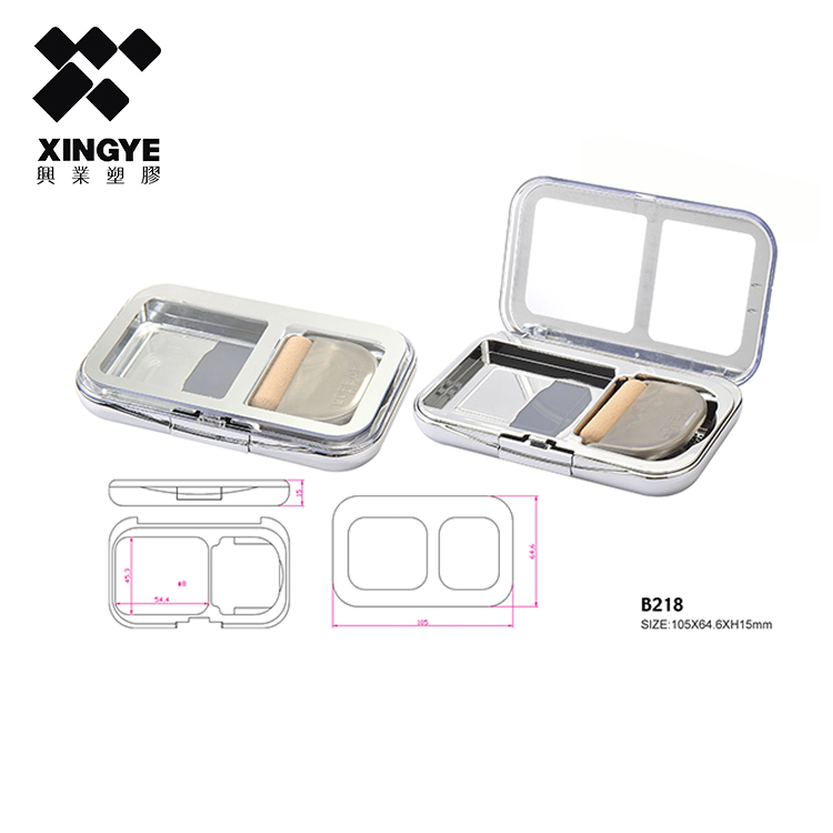 Hot sale cosmetic packaging container empty bb cushion powder case/container