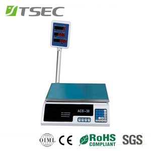 Tiansheng acs 30 digital price computing scale desktop weight scale