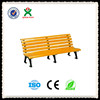 2014 hot sale solid wood patio bench / stainless steel garden bench / metal leg outdoor garden bench (QX-143E)