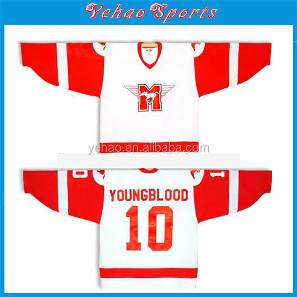 custom reversible China international sublimation hockey jersey