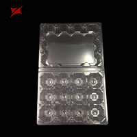 China OEM folding plastic tray blister 12 packs quail egg cartons for sale