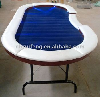 Led poker table with portable steel leg buy poker table for 10 person poker table top