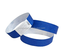 Promotional Cheap Disposable Waterproof Colorful Tyvek Wristband for Events