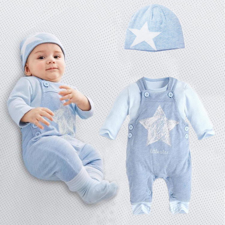 Baby rompers long sleeve cotton romper baby infant cartoon Animal newborn baby clothes romper+pants 2pcs clothing set
