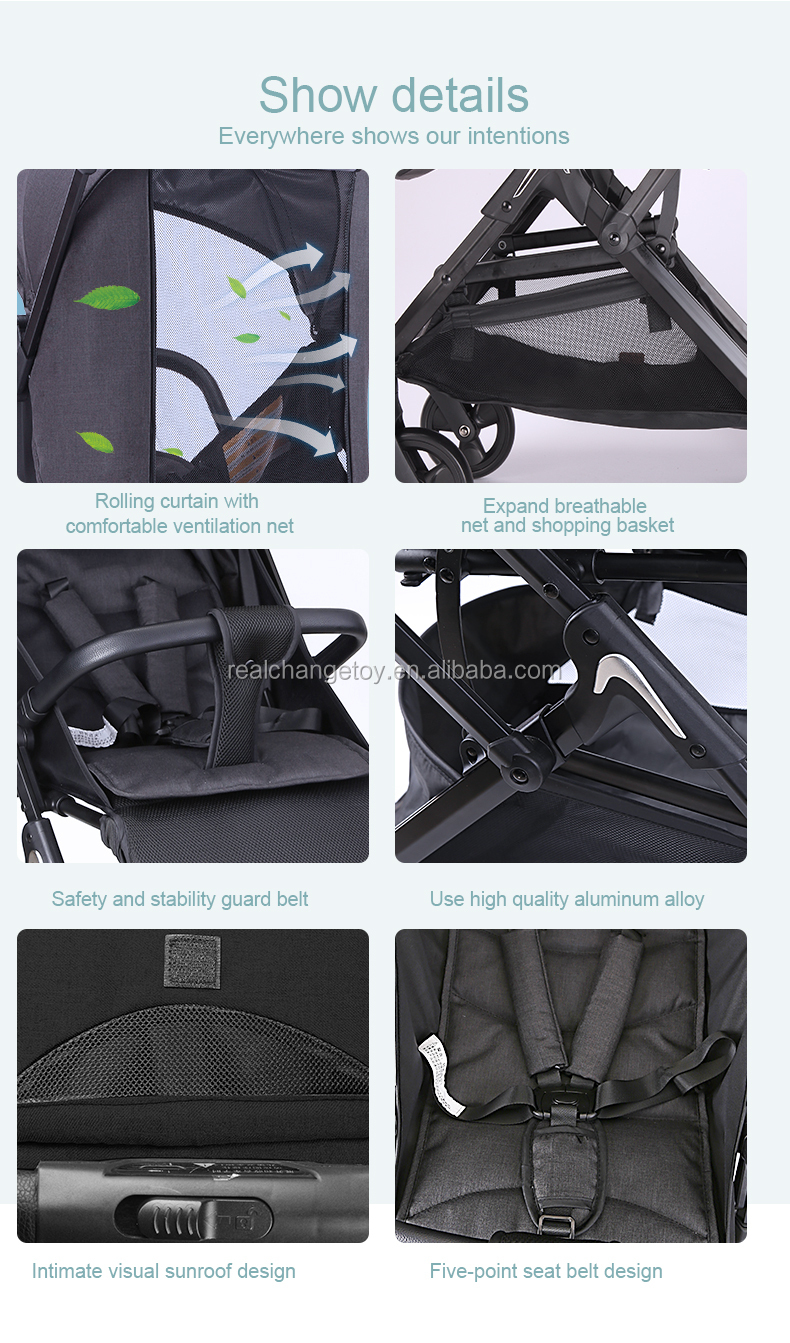 DEAREST 2020 one hand folding baby stroller with nets for shade & anti-mosquito
