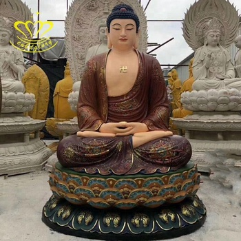 Hot Selling customized fiberglass New product Life Size Buddha statue for temple garden home decor