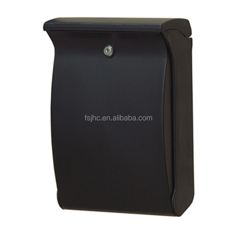 Foshan traditional wall mount mail box ABS plastic lockable letter box