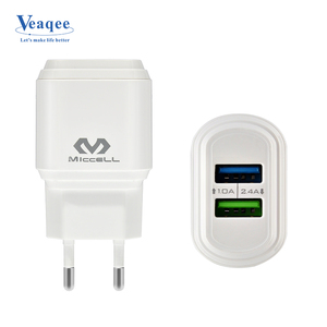 Veaqee 2.4A EU 2 usb ports mobile phone charger