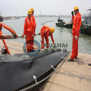 Air Inflatable Rubber Oil Boom