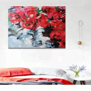 Wall Decorative Abstract Reproduction Fine Art Red Rose Painting Gift