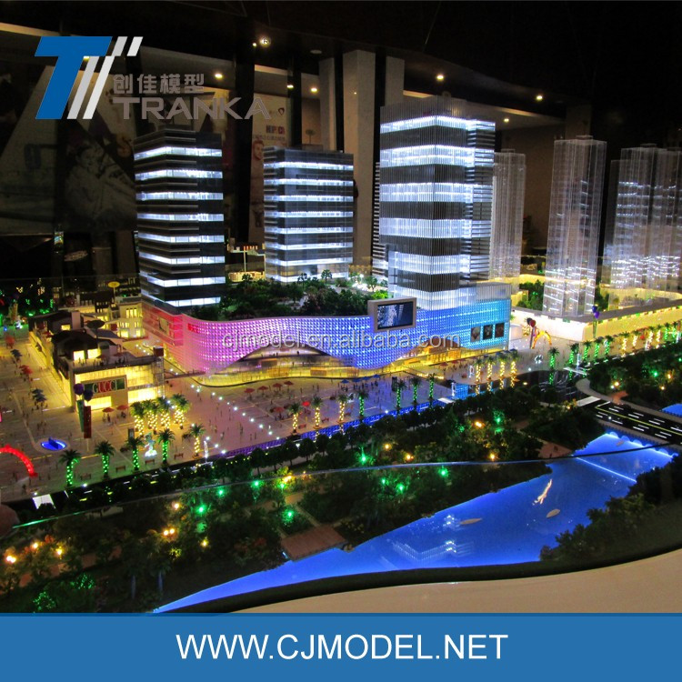Modern commerical plaza scale model for display , miniature shopping mall building model