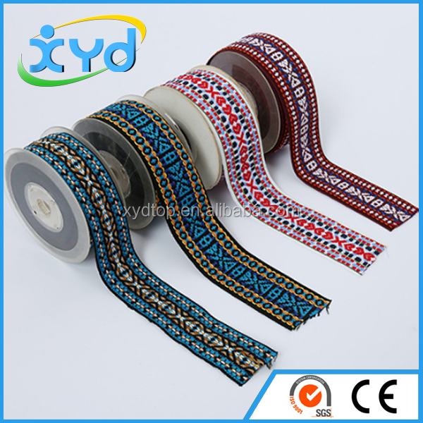 Customized Jacquard elastic band jute webbing for garment accessories
