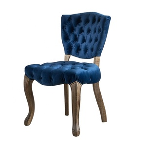 Wholesale Modern French Design Wooden Chaise Velvet Antique Furniture Upholstered Dining Chair