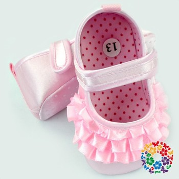 Infant Pink Anti Slips Toddler Soft Sole Shoe Fancy Baby Girl Shoes