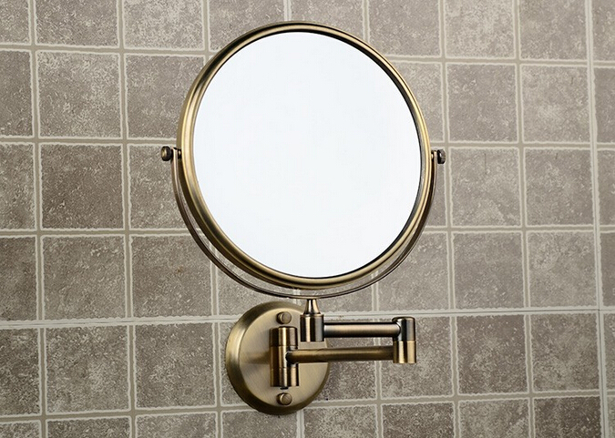 Bronze Wall Mirror: Hot Sale Bathroom Anti Bronze Wall Mounted 8 Inch Brass 3X