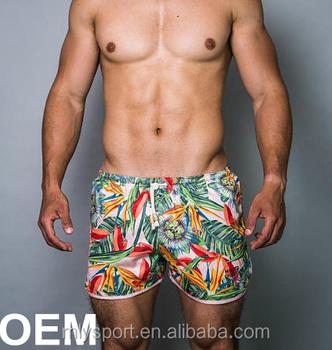 c5dc7bdac2 2018 New Style Oem Mens Swim Shorts Printed Custom Swimwear ...