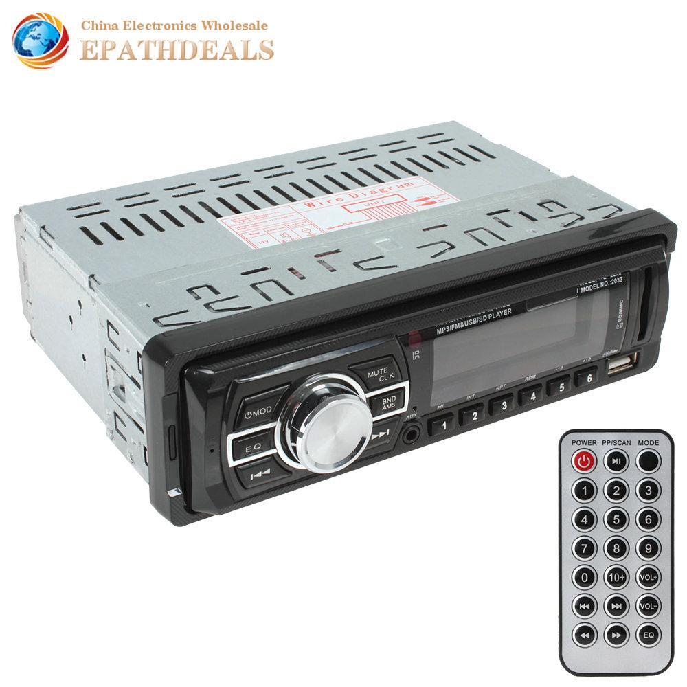 [ Продажа ] высокое качество жк-аудио автомобильные cd в-dash авто радио mp3-плеер fm-aux вход приемника USB SD с дистанционным