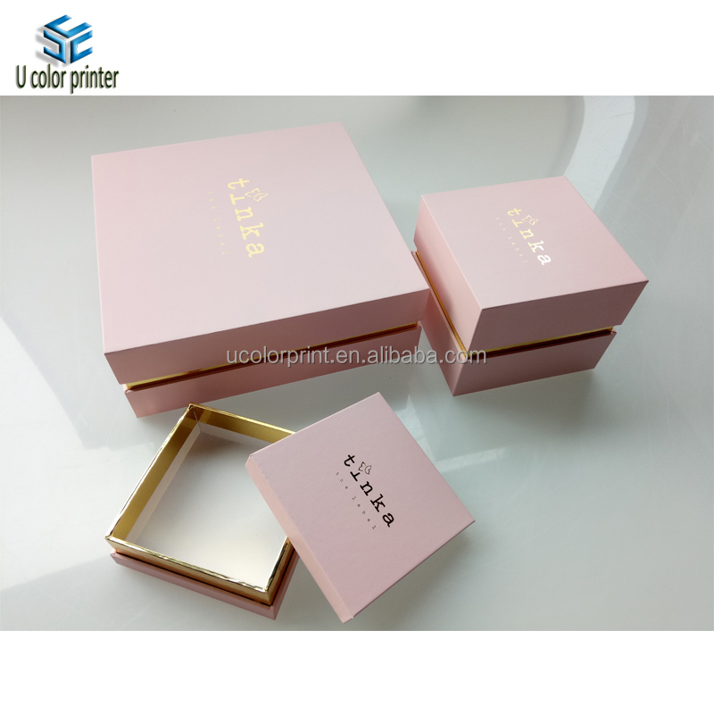 Sexy Pink Shoulder Box For Perfume or Jewelry Packaging With Foil Golden