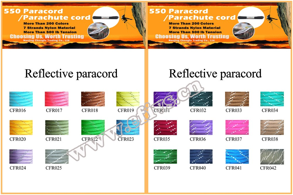 China Manufacture Wholesale 550 Reflective Paracord Dog Collar