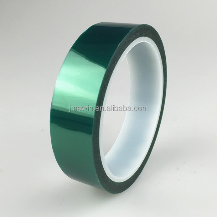 Heat resistant PET Tape/ Green Polyester Tape/ Silicone Tape for powder coating