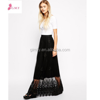 Summer Women See Through Black Lace Maxi Skirts Wholesale Buy Elegant Maxi Skirtlace Maxi Dresssee Through Maxi Dress Product On Alibabacom