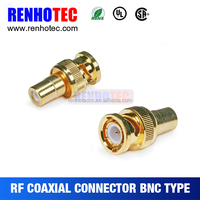 Gold Plated BNC Male to RCA Female Connectors Adapter