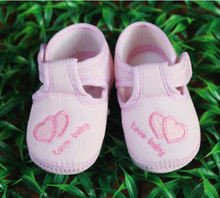 pink Love heart Newborn Baby Girl Cotton Soft bottom shoes spring and autumn Non-slip toddler shoes 0-18M Footwear Crib Shoe
