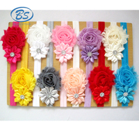 HB8578 Kids Wholesale Grosgrain Ribbon Baby Knitted Girl Hair Accessories Headband