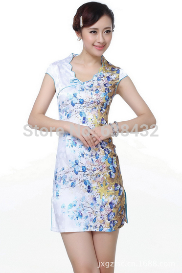Get Quotations · Free Shipping 2014 fashion sexy dress short national trend clothing  Chinese Traditional Cheongsam Dress qipao 2 38b1269a10f8