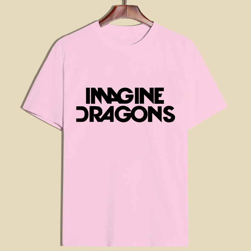 QX488 Imagine Dragons recreational English letters printed t-shirts with short sleeves cotton female hot style blouse