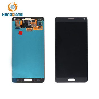 Cell phone spare parts lcd for samsung n9100/galaxy note 4 white gray display replacement screen