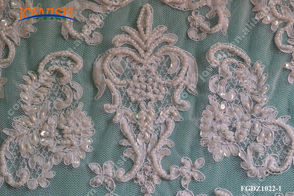 Custom Gorgeouse Floral Beaded Sequined lace fabric for wedding curtains dress,fabric for wedding dress lace