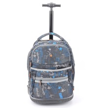 china factory wholesale 1680D polyester durable branded teens school trolley bags