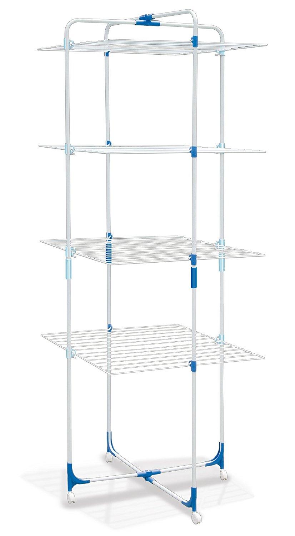 Metaltex USA Inc. Castello Clothes Dryer Racks, White, 4-Tier