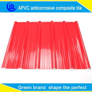 Apvc plastic roof tile for home house warehouse