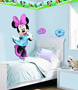 """Disney """"Mickey & Friends"""" Minnie Mouse Room Makeover Wall Decal Kit"""