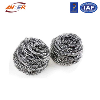 galvanized iron wire stainless steel cleaning ball, galvanized wire scourers