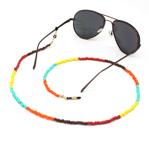 Wholesale colorful sunglasses lanyard holder retainer kids neck cord eyeglass chain beads beaded glasses strap