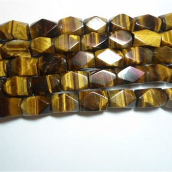 Natural stone tiger eye tumbled stone tiger eye beads