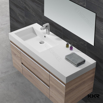 Bathroom Sinks Top Mount 2017 modern design thin edge cabinet basin/top mount vanity sinks
