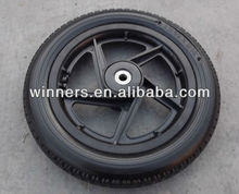 12 small plastic pneumatic trailer wheel with axle