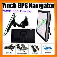 "Hottest 7"" Inch Car Navigation GPS SAT NAV 8GB 256MB FM Touch Screen Free Maps"