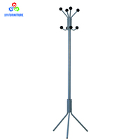 Home hotell furhniture metal 3 legs tree shape coat stand clothes hanger rack