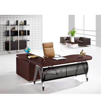 Ausone Office Furniture Modern Leather Semi Circle Office