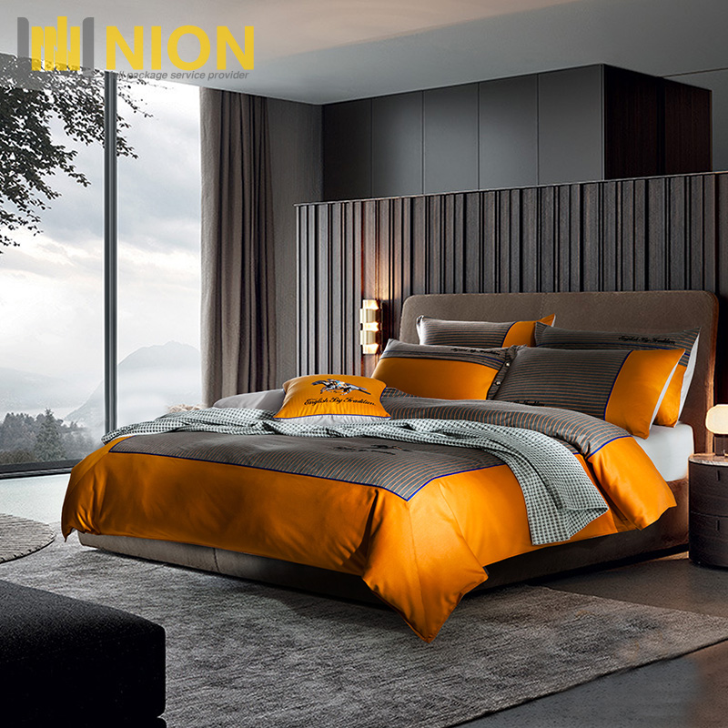 400TC ELS Cotton Linen <strong>Set</strong> for Luxury Hotel and Home Use with OEM Brand