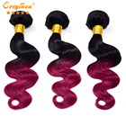 2016 new Ali Express Top sale ombre on black hair ombre hair from brown to red ombre shades