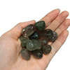 Bulk Natural Polished Gemstone Green Hair Rutilated Quartz Crystal Tumbled Stones For Decoration