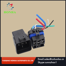 high quality 12V DC 40A 5Pin Automotive Relay wire harness Waterproof Wire Integrated Car Auto Socket Black