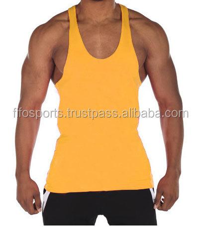 e9d0e4e255 Men gym polyester tank top custom blank racerback plain workout stringer  tops vest